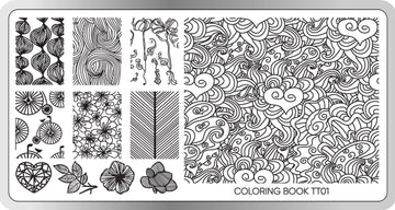 Coloring Book Stamping Plate