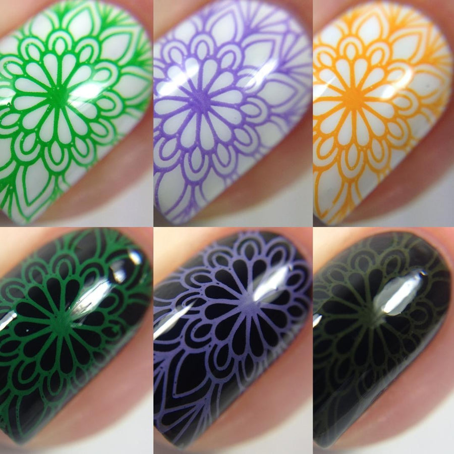 Color Block Stamping Polish Bundle