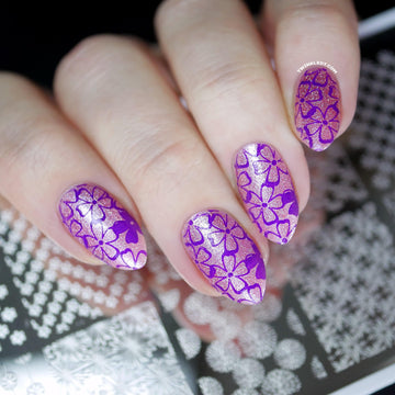 Floral Stamping Plate