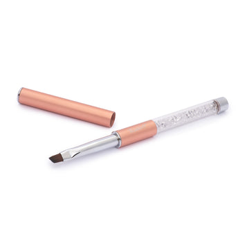 Rose Gold Vegan Clean Up Brush W Cap