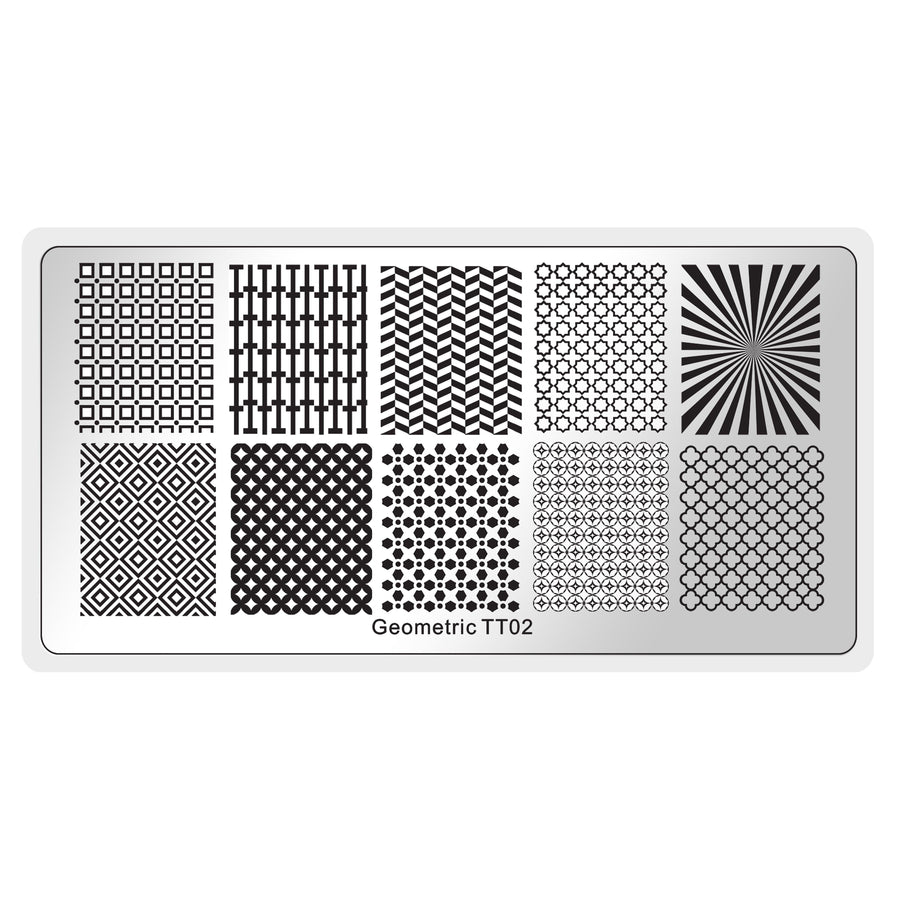 Geometric 2 Stamping Plate