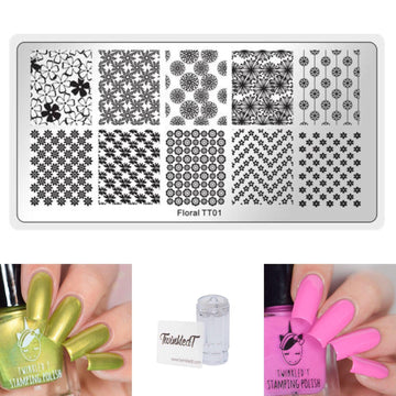 Floral Set - Plate, Polishes, Stamper, & Scraper