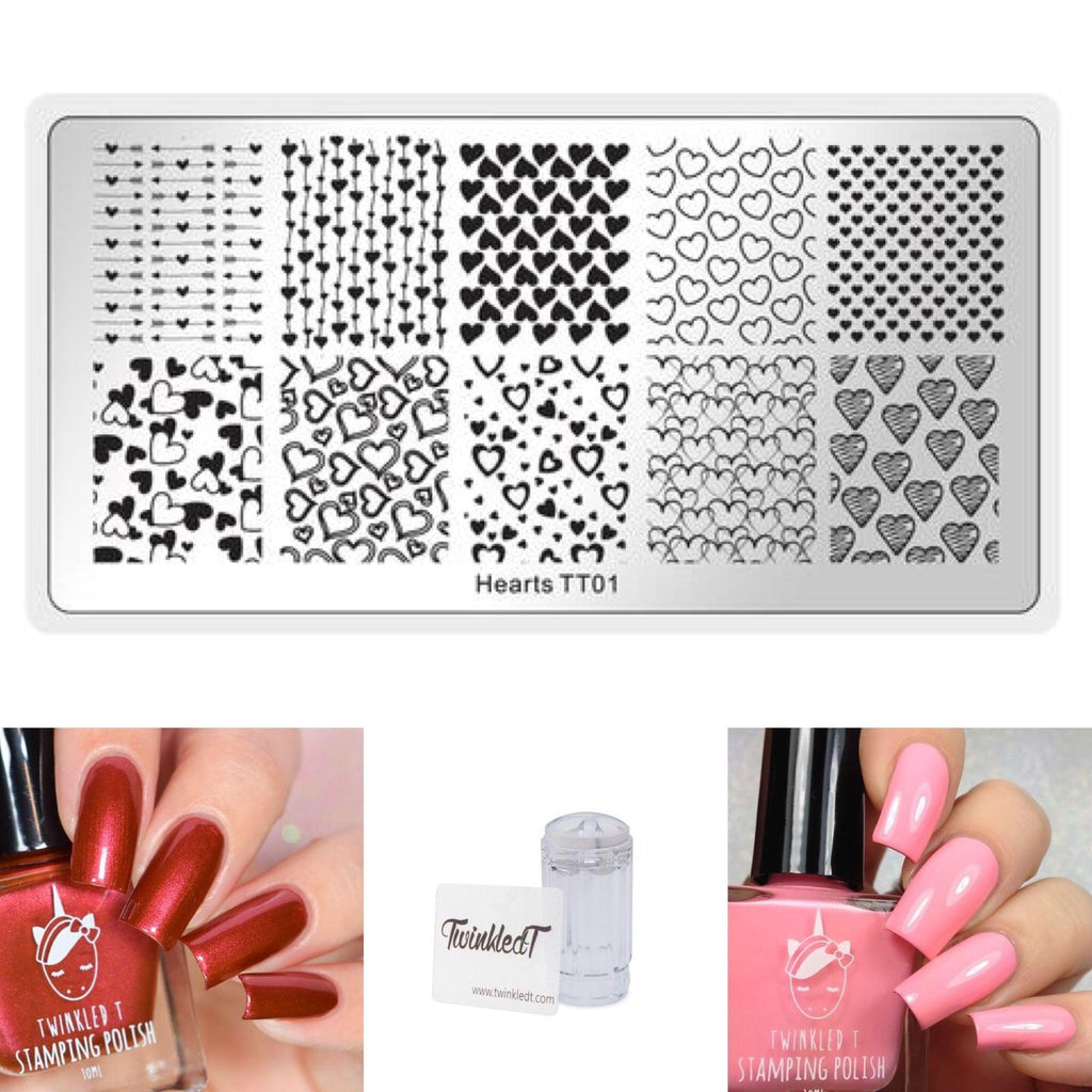 Heart Set - Plate, Polishes, Stamper, & Scraper