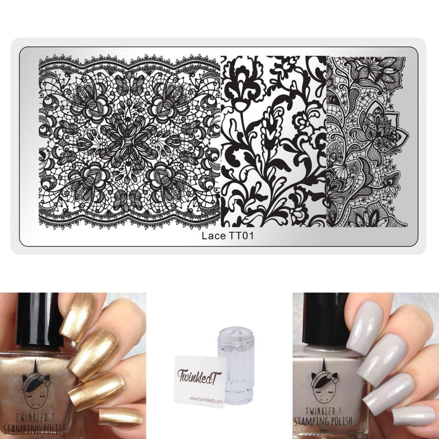 Lace Set - Plate, Polishes, Stamper, & Scraper