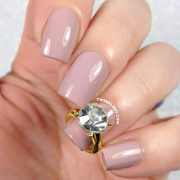 Gold Crystal Nail Ring Charm