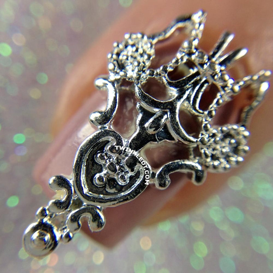 Silver Pointed Ornate Charm