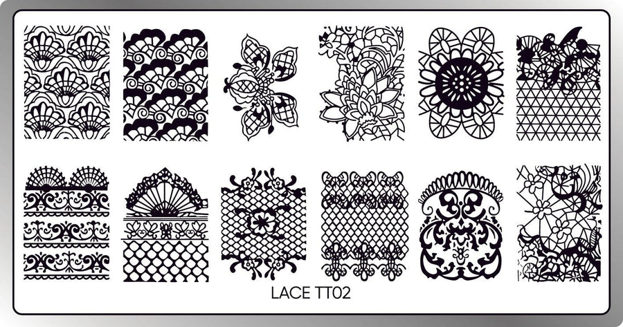 Lace 02 Stamping Plate