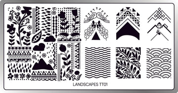 Landscapes Stamping Plate
