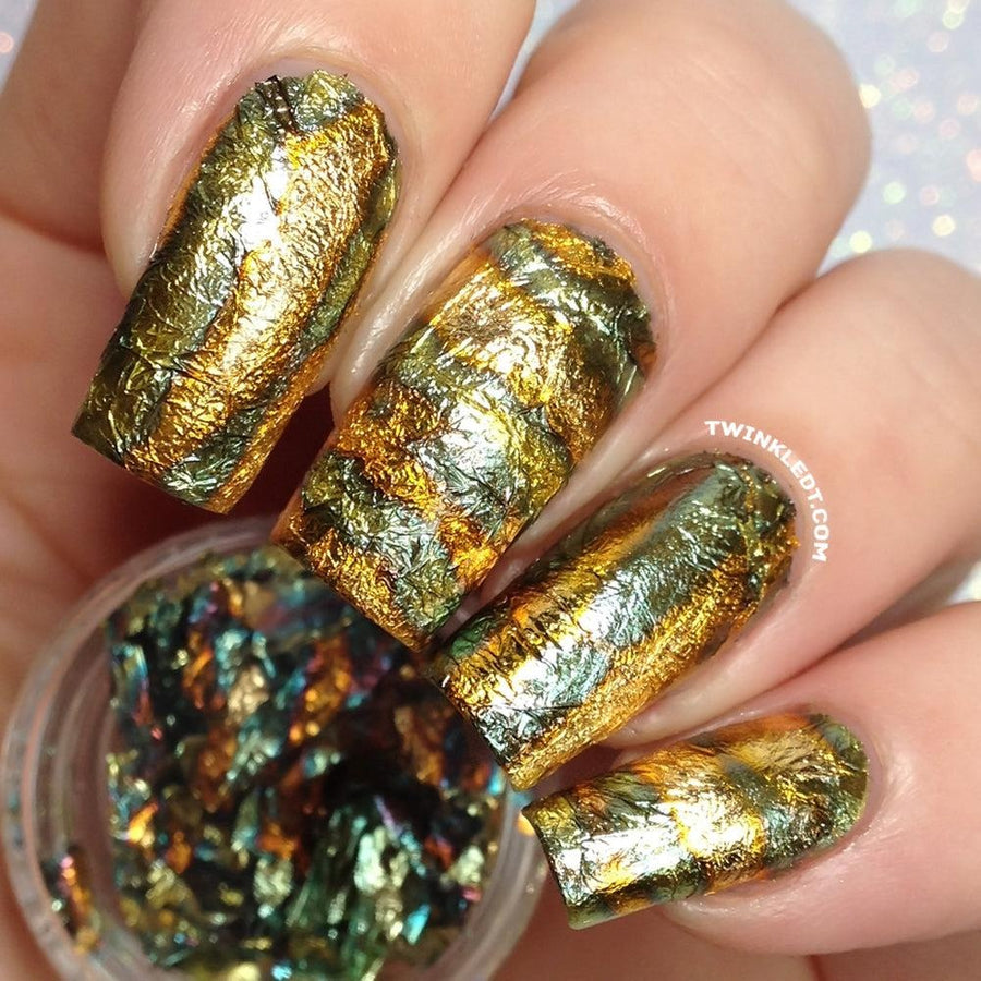 Multicolored Gold Nail Foil Pot