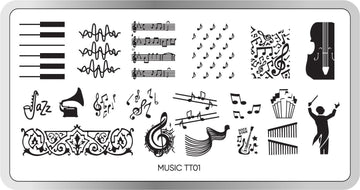 Music Stamping Plate