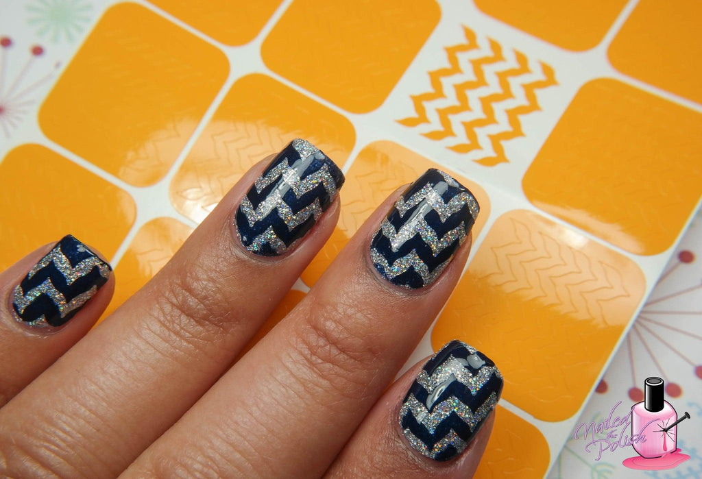 Nailed The Chevron Stencils - Twinkled T - 4