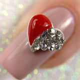 Red Rhinestone Heart Charm