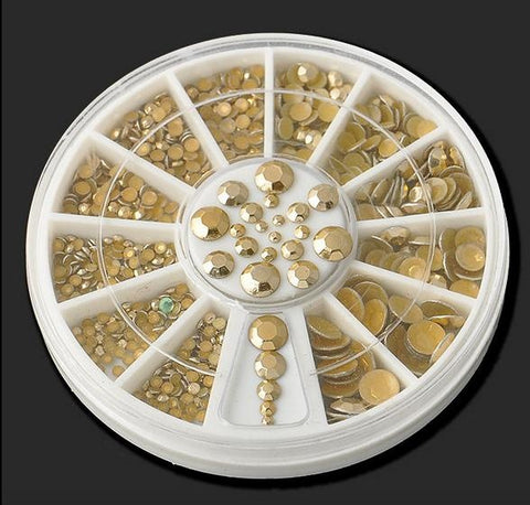 Silver & Gold Metallic Stones Wheel