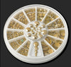 Gold Stud Rhinestones Wheel - Twinkled T