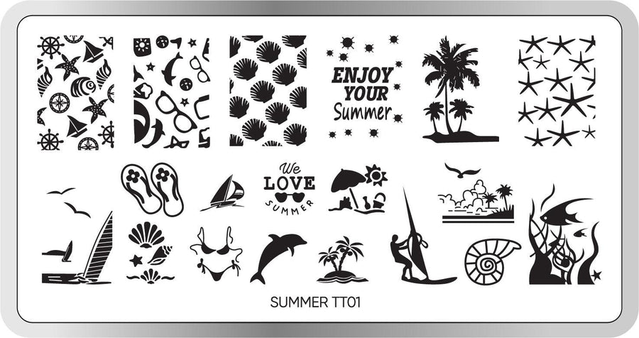 Summer Stamping Plate