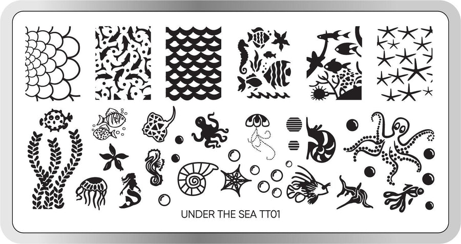 Under The Sea Stamping Plate