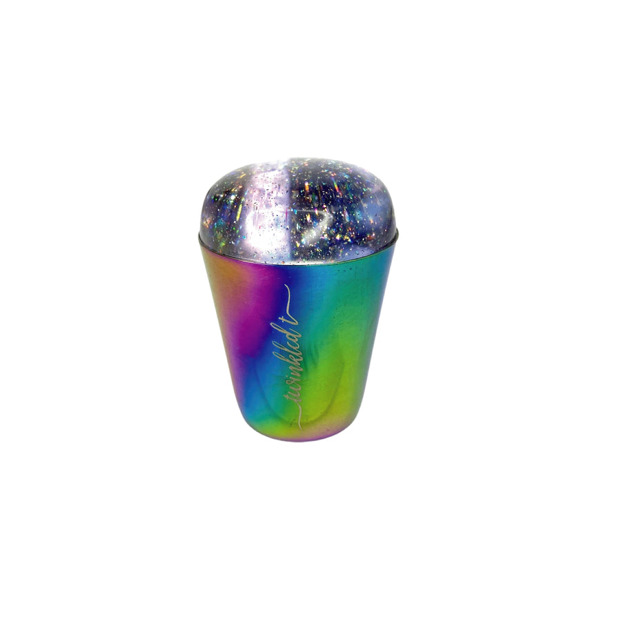 Rainbow Handle Holo Head Stamper & Scraper