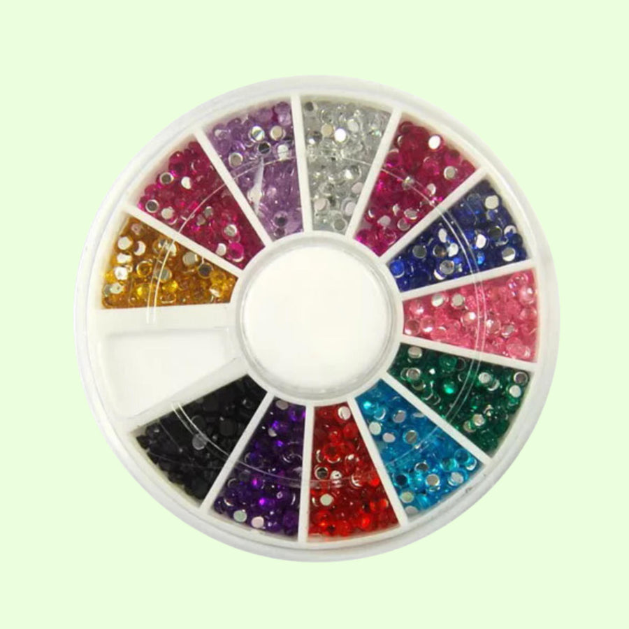 Multicolor Circle Rhinestones Wheel