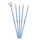 Twinkled T Peri-Twinkle Nail Art 5 Pc Brush Set - Twinkled T - 1