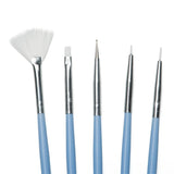 Twinkled T Peri-Twinkle Nail Art 5 Pc Brush Set - Twinkled T - 2