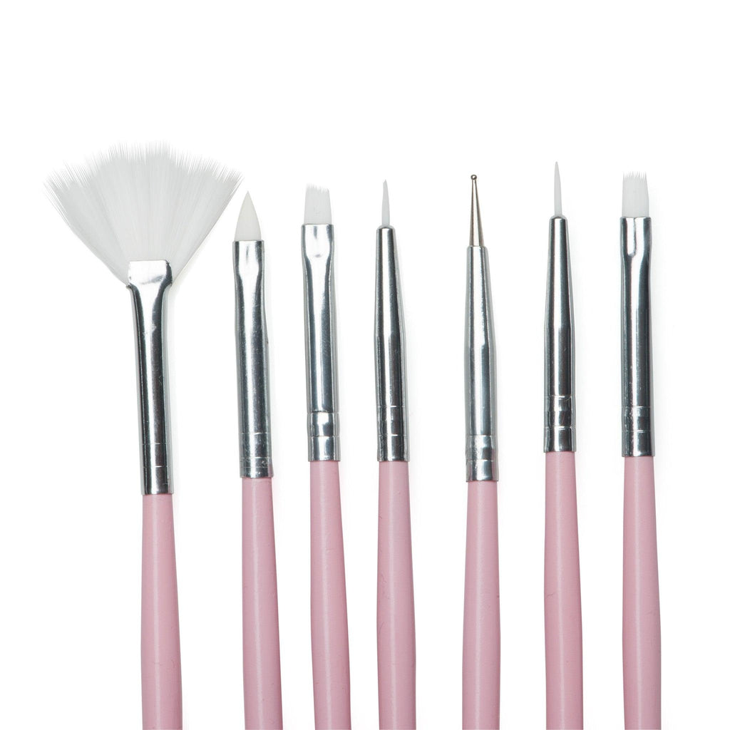 Twinkled T Bubble Yum Nail Art 7 Pc Brush Set - Twinkled T - 2