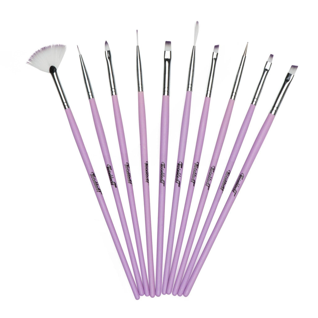 Twinkled T Cotton Dandy Nail Art 10 Pc Brush Set - Twinkled T - 1