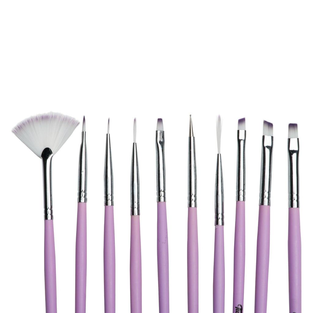 Twinkled T Cotton Dandy Nail Art 10 Pc Brush Set - Twinkled T - 2