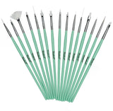 Twinkled T Mint Coco Nail Art 15 Pc Brush Set - Twinkled T - 1