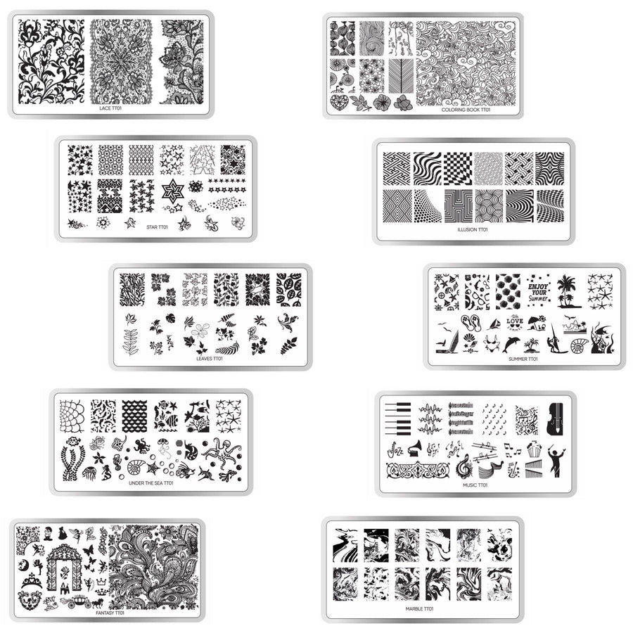 Stamping Plate Set of 10