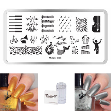 Music Set - Plate, Polishes, Stamper, & Scraper