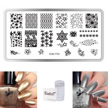 Star Set - Plate, Polishes, Stamper, & Scraper