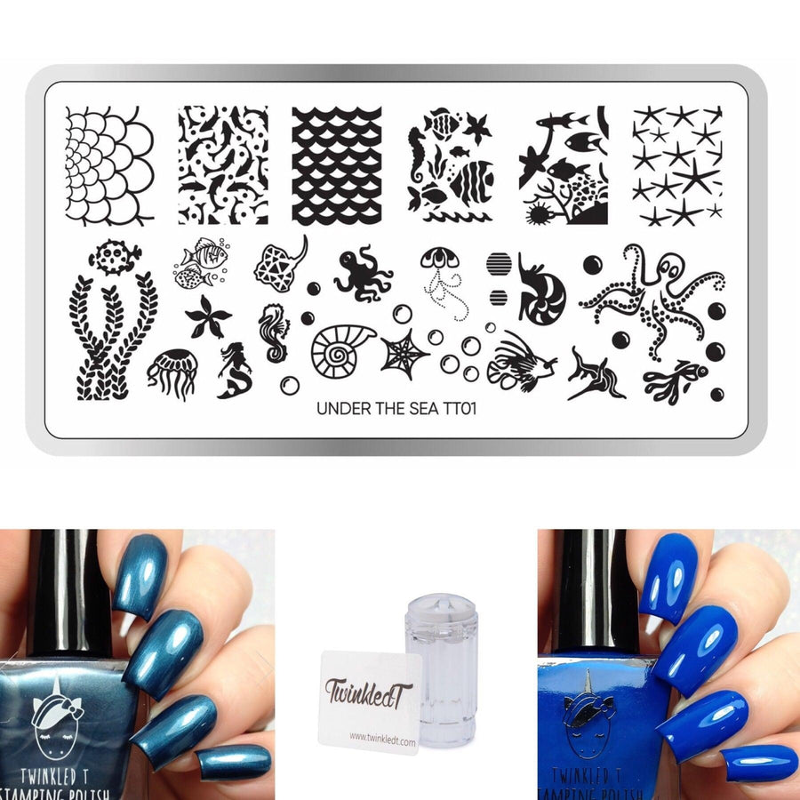 Under the Sea Set - Plate, Polishes, Stamper, & Scraper