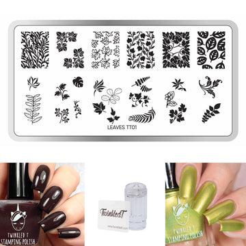 Leaves Set - Plate, Polishes, Stamper, & Scraper