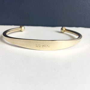 LOVED Brass cuff