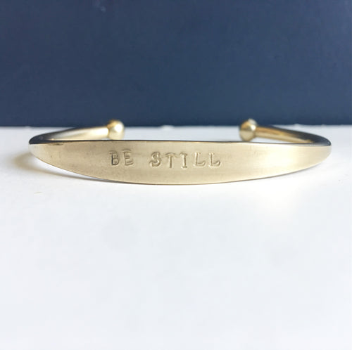 Be Still Brass Cuff