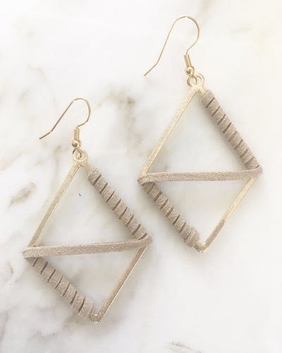 Suede Wrapped Earrings