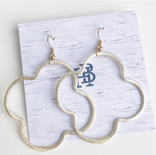 "Quatrefoil 2"" Earrings"