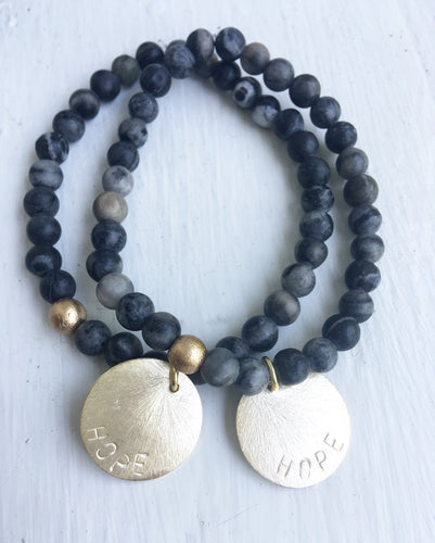 Hope for Autumn Second Story Bracelet (black marble)