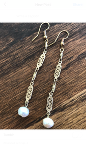Freshwater Pearl and vintage chain
