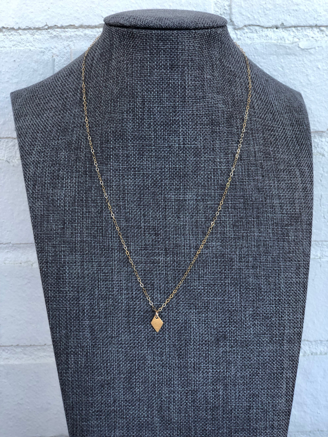 14k Gold Filled Diamond Necklace