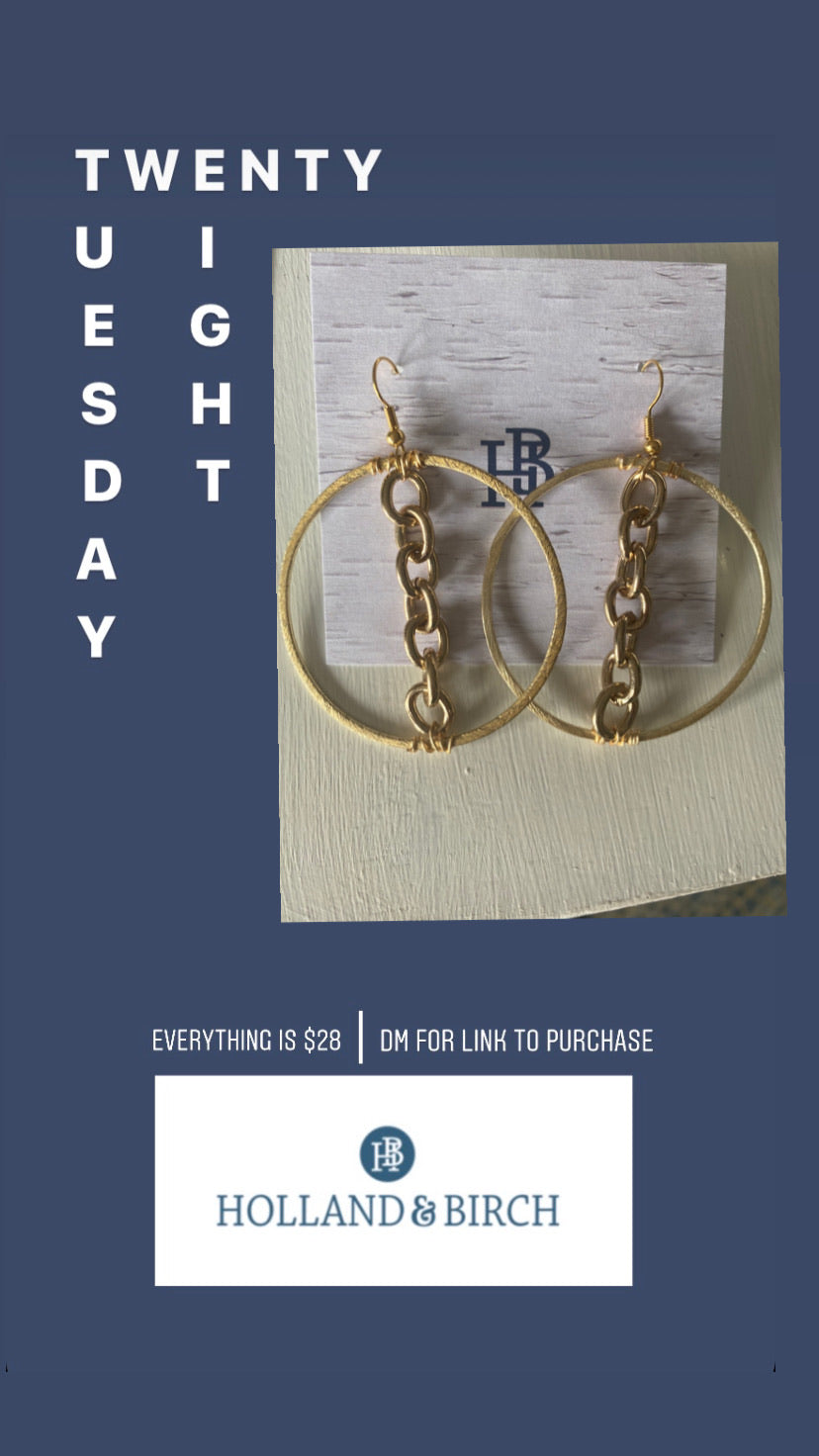 Tuesday Sale Chain Hoops