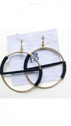 "Black Wrapped 2"" Hoops"