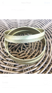 Vintage Etched Bangle