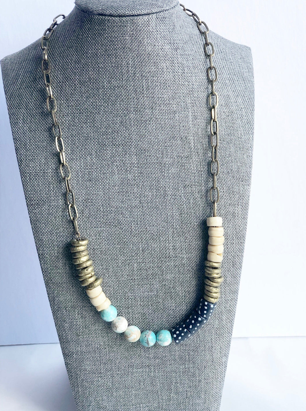 The Eve Navy and Turquoise Necklace