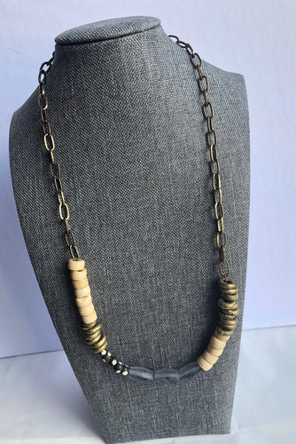 The Eve Grey and Gold Necklace