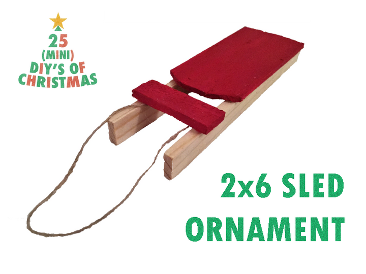 25 (Mini) DIYs of Christmas: Mini Wooden Sled Ornament