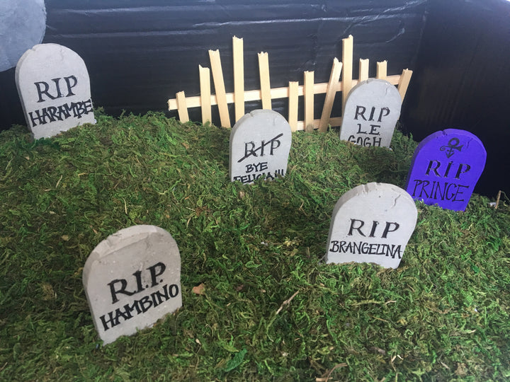DIY: Miniature Graveyard Scene… For Hamsters!