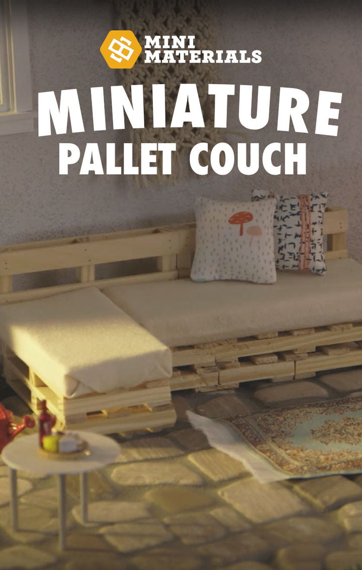Tiny Tuesdays with eHow #3: Miniature Pallet Couch