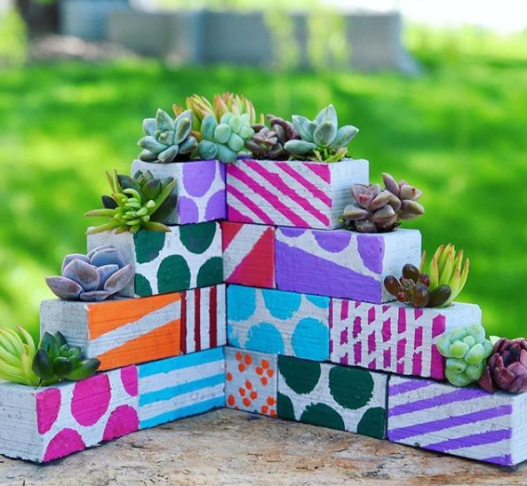 How To: Miniature Cinder Block Planter by Garden Answer!