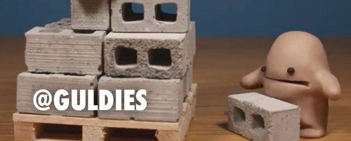 Miniature Cinder Block Stop Motion with Guldies